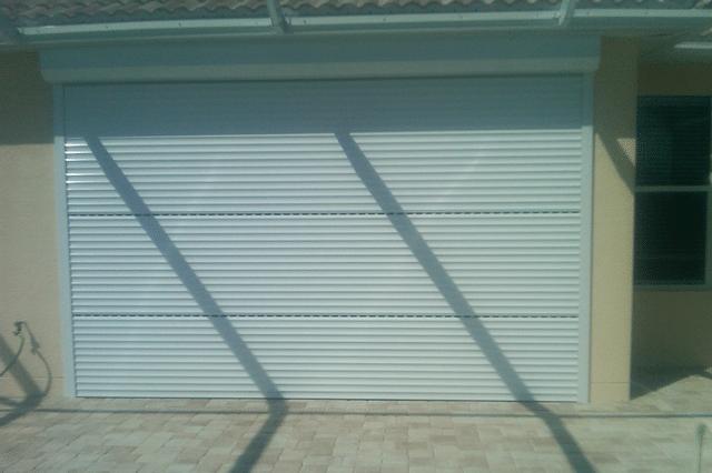 Hurricane shutter rolldown